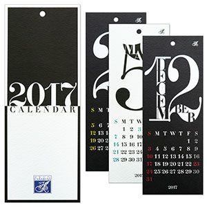 HANABUSA(はなぶさ) 2017 カレンダー C(レトロ&モダン モノトーン)