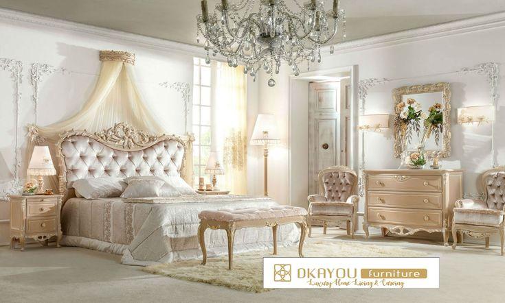 Set Kamar Tidur Mewah Klasik Tempat Tidur Terbaru