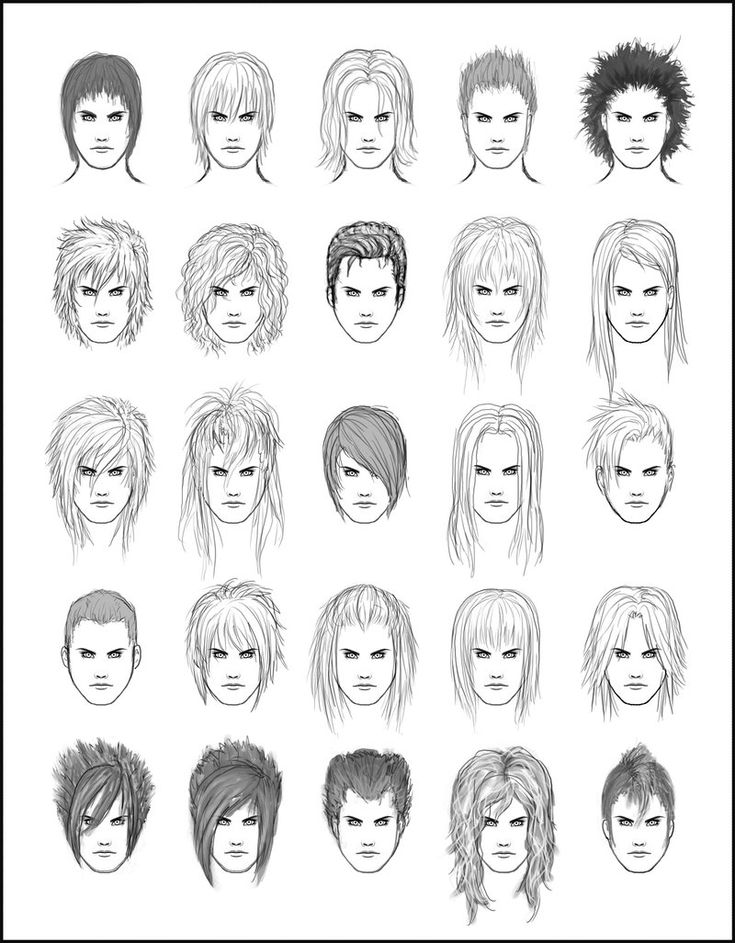 Mens Hair Set  By Dark Sheikah Deviantart Com On Deviantart