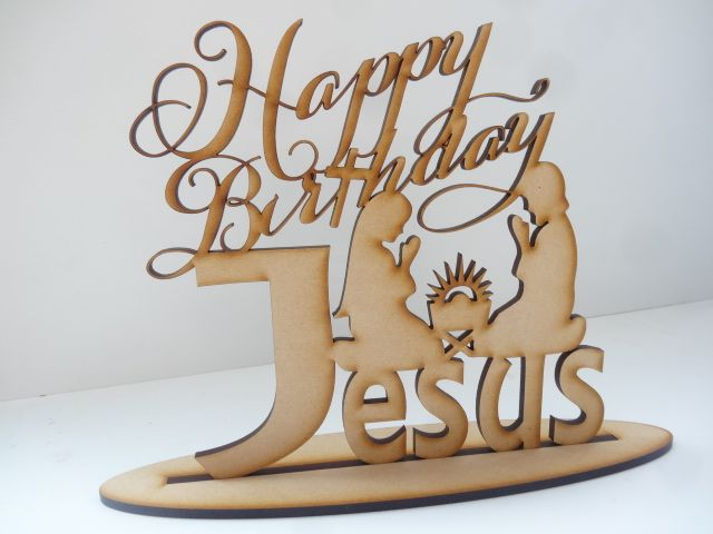 Happy birthday jesus Religious wooden christmas signs funkyletters2016©