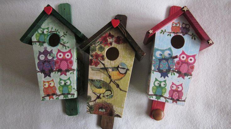 decoupage na budkach dla ptaków  combi-anka@wp.pl
