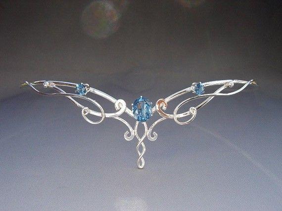 Morning Bridal Circlet, Sterling Headpiece, Wedding Tiara, Celtic Tiara, Elven, Medieval Fairytale, Headdress via Etsy