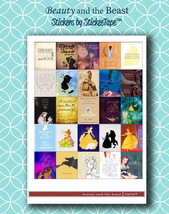 Beauty and the Beast Planner Printable  Instant by StickeeTape