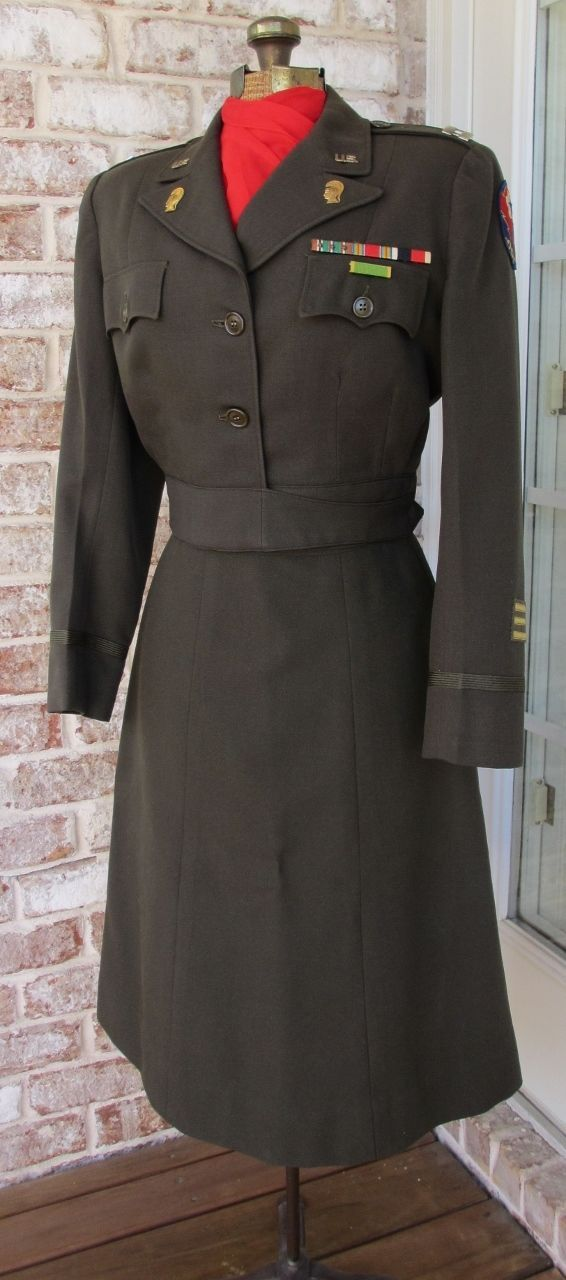 WWII ETO Women's Army Corps WAC Uniform w Insignia Ike Jacket Skirt Adsec Comz | eBay For all the women in service we salute you!