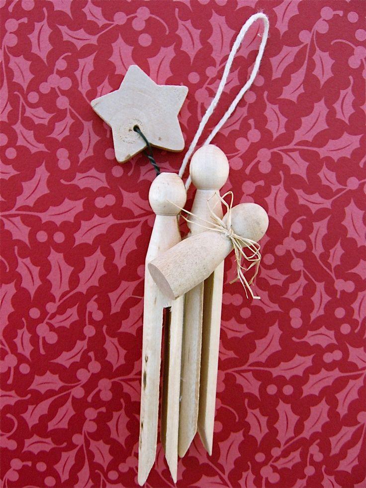 nativity ornament...looks so easy, hmmmSunday School, Crafts Ideas, Christmas Crafts, Christmas Native, Christmas Ornaments, Native Crafts, Christmas Gift, Native Ornaments, Clothespins Native