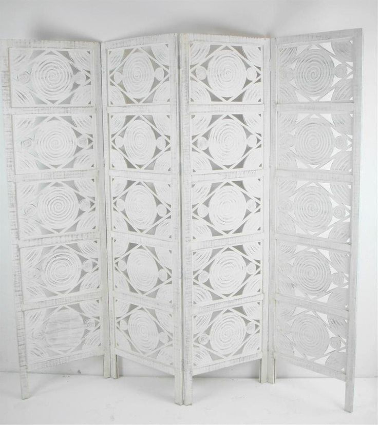 4 panel hand carved indian screen wooden swirl design screen room divider amazonco