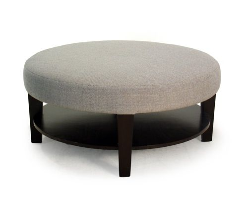 An attractive but not dangerous coffee table. Upholstered Round Coffee Table via Vastu: