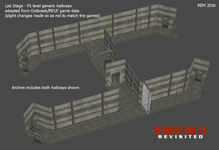 Lab - P1 Level Generic Hallways (working models) by RE15REvisited.deviantart.com on @DeviantArt