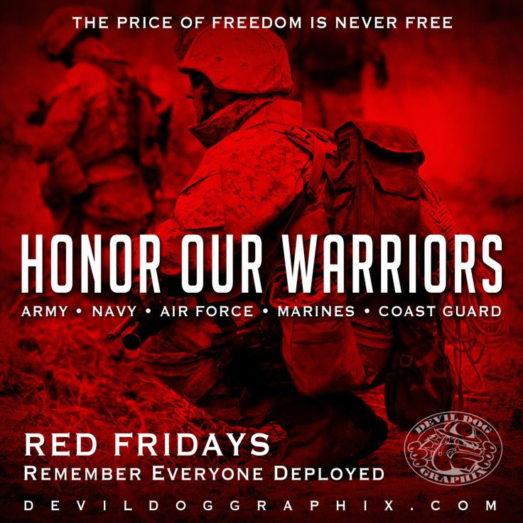 It's RED Friday! Remember Everyone Deployed! Rah!http://devildoggraphix.com/