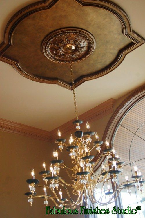 Black Ceiling Medallion Simple 95 Best Medallions Images On Pinterest  Ceiling Medallions Ceiling Design Ideas