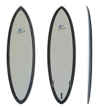 High End Clear Pu Fiberglass Foam Surfboard With Carbon Rail