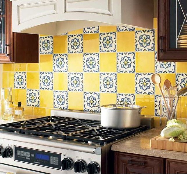 Beautiful Colorful Kitchen Backsplash In Kitchen Decor Beautifull Colorful Kitchen Backsplash Yellow With Floral