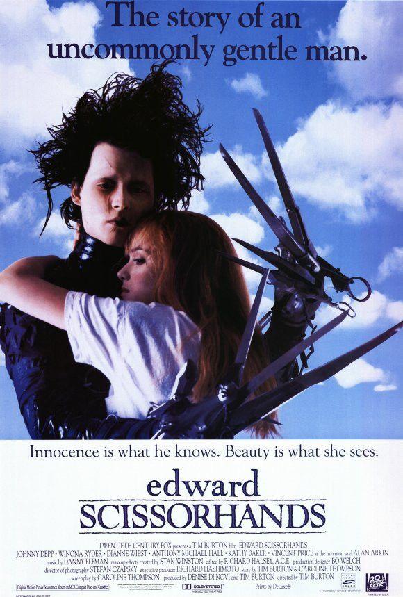 Edward Scissorhands 27x40 Movie Poster (1990)