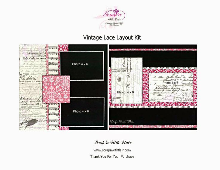 Vintage Lace Layout Kit by Scrap'n With Flair