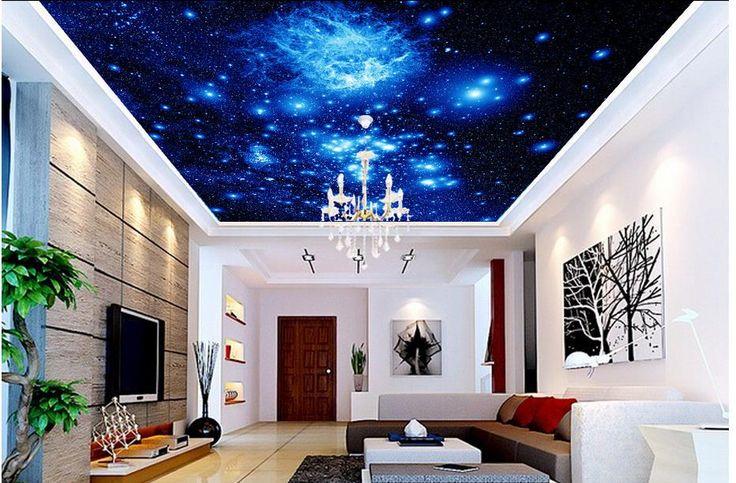 3d настенные обои Украшение Дома Потолка Звезды 3d обои гостиной Потолочные фрески обои 3d обои