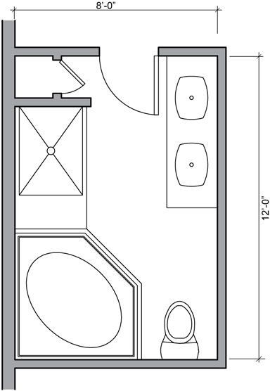 Small Bathroom Floor Plan Dimensions for small Space Images