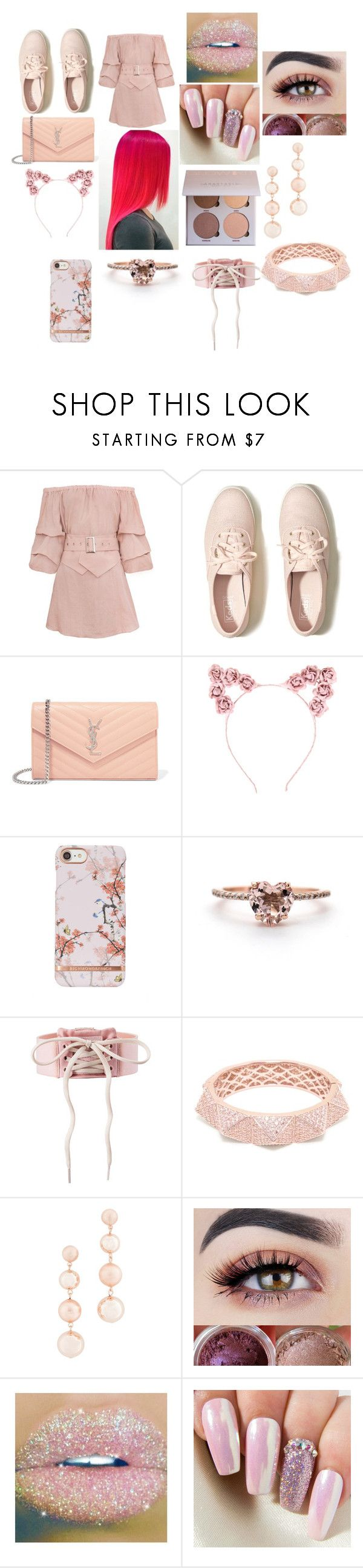 """""""summer date"""" by mynameissatanlmao ❤ liked on Polyvore featuring Hollister Co., Yves Saint Laurent, Hot Topic, Puma, Matara and Rebecca Minkoff"""