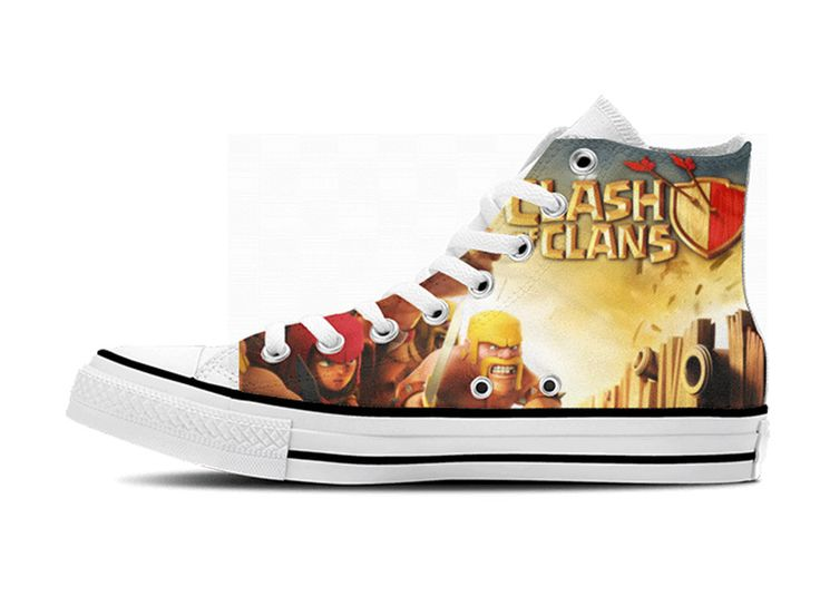 Clash of Clans Custom Unoffical HiTop Shoes by CustomHiTops, $38.00. OOOOh I can see Kieran and Ben wearing these!