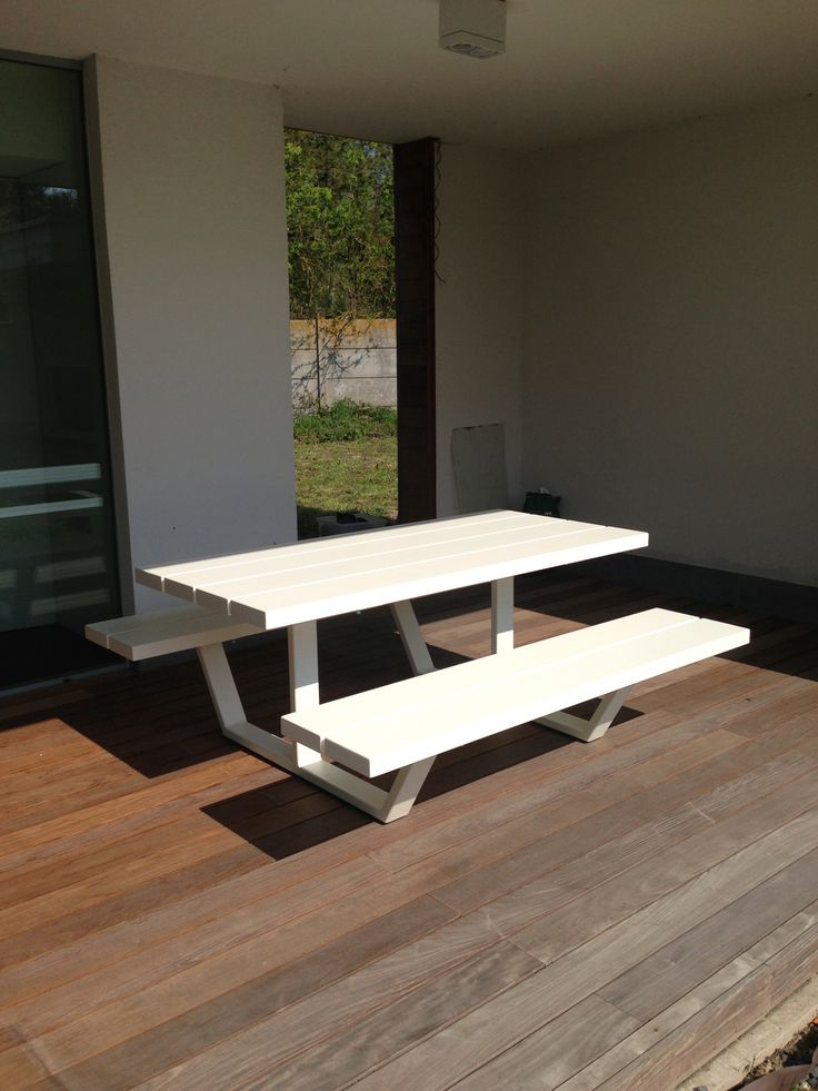 Cassecroute Table, design picnic table in aluminium. Up to 14m! #design #picnictable