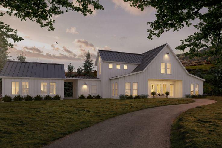 Farmhouse Style House Plan - 3 Beds 2.5 Baths 3038 Sq/Ft Plan #888-1 Exterior - Front Elevation - Houseplans.com
