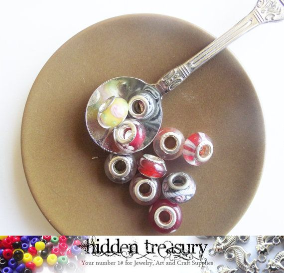 Pandora Style European Spacer Beads 10pc . Fun by HTCandyBeads, $3.40