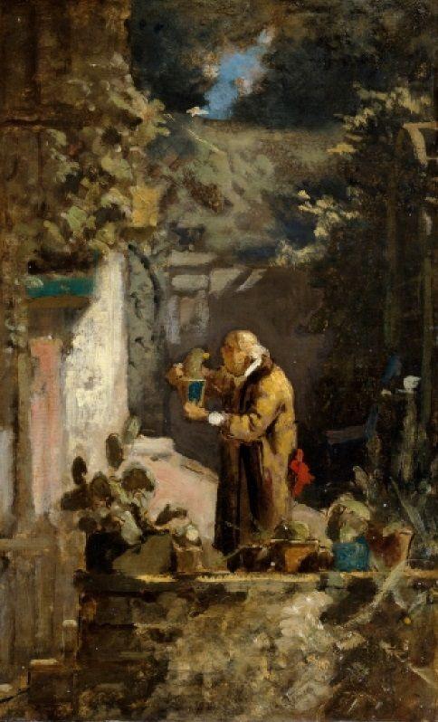 Carl Spitzweg - Der Herr Pfarrer als Kakteenfreund 1855