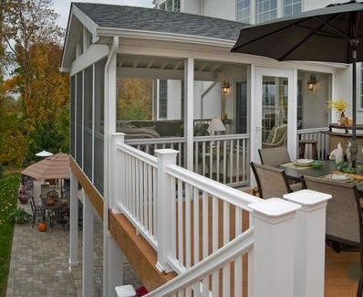 78 best images about covered 2nd floor deck sunroom on for Covered porch flooring options