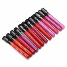 Cor 12pcs Mini Rodada Garrafa maquiagem cosméticos Lip Gloss