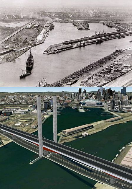 Melbourne Docklands 1800s & 2011 by AC Studio, via Flickr