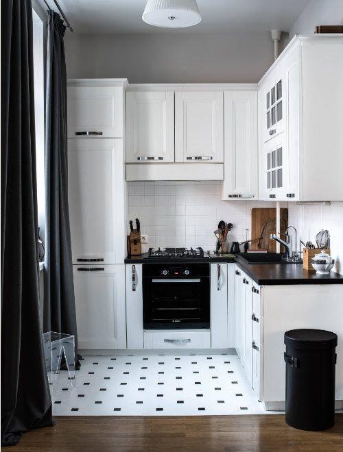 Küchendesign 10 Quadratmeter. m: 100 beste Designideen auf dem Foto