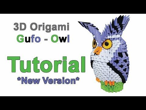 Origami 3d Owl New Version Tutorial 1/32 Origami 3d Gufo Nuova Versione Tutorial 1/32 - YouTube