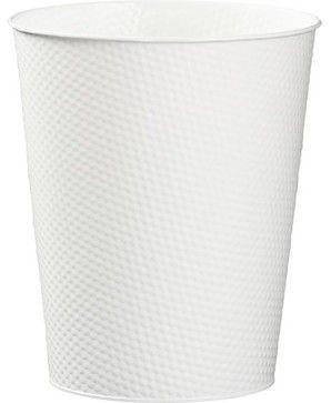 White 3-Gallon Waste Can modern waste baskets