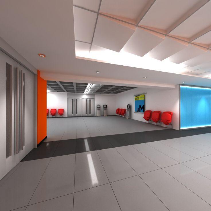 3D MODEL: https://www.turbosquid.com/3d-models/3dsmax-auditorium-entry-hall/685931?referral=cermaka
