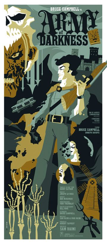army of darkness: Movie Posters, Army, Tom Whalen, Evil Dead, Dark Posters, Toms Whalen, Horror Movie, Horror Art Posters, Movie Art