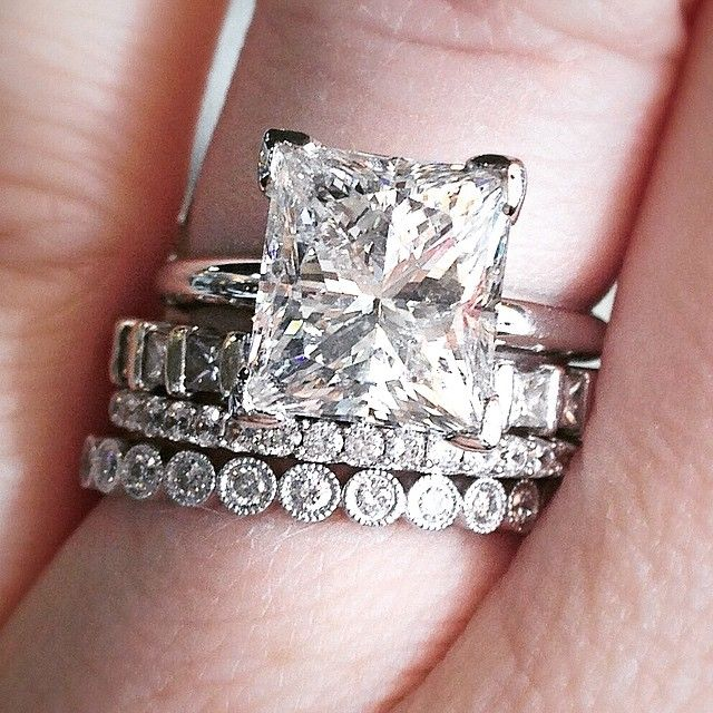 Mix up the shapes of your diamonds for a layered look or one you build over time (anniversaries, push presents, etc.)