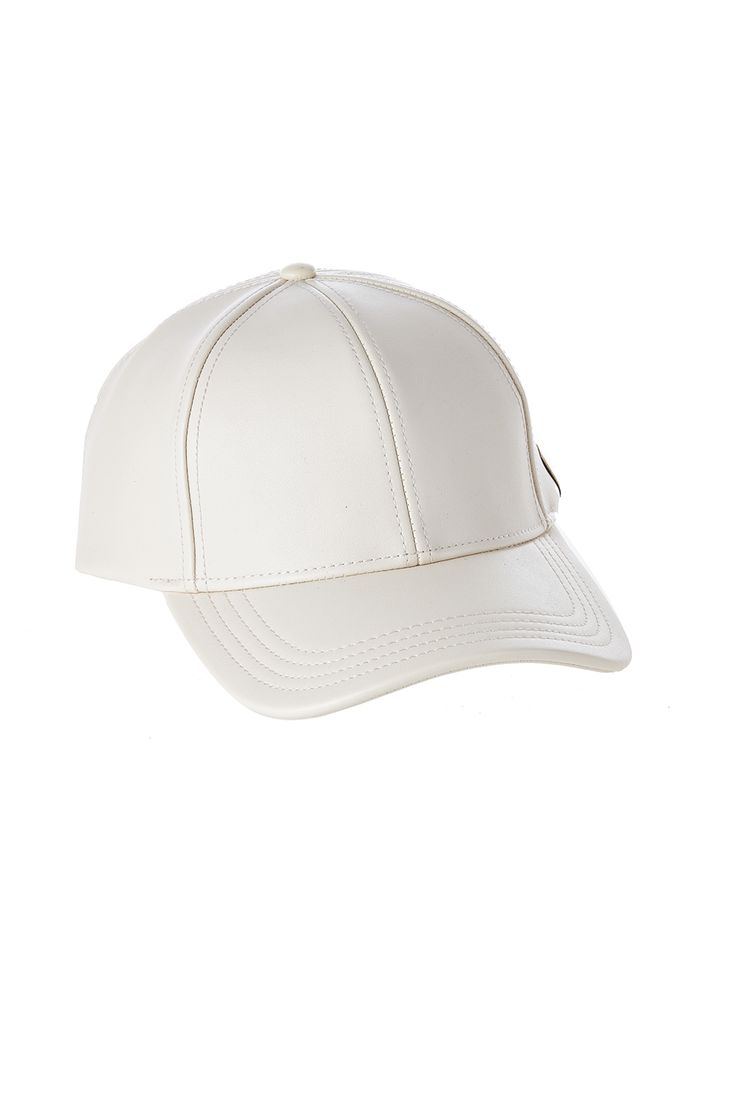Faux leather baseball cap with an adjustable back tab. Faux Leather Baseball Cap by C.C.. Accessories - Hats West Village, Manhattan, New York City