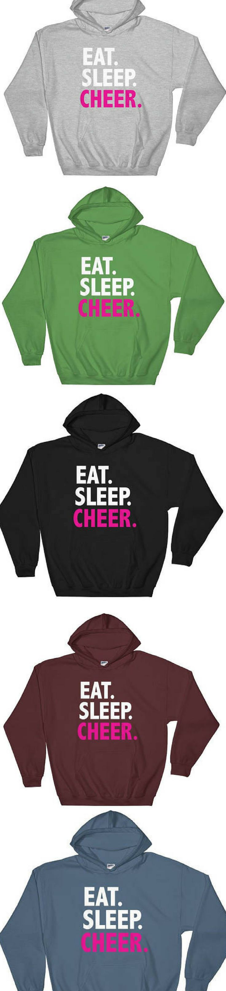 $36.  Eat Sleep Cheer, Cheer Hoodie, Cheer Shirt, Cheerleader, Hooded Sweatshirt cheerleading sweatshirt #cheerleading #ad