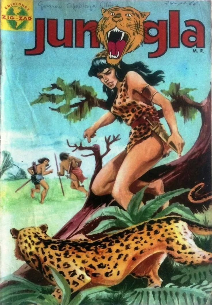 Jungla # 1, enero de 1967. En portada Mawa (Comic Chile)