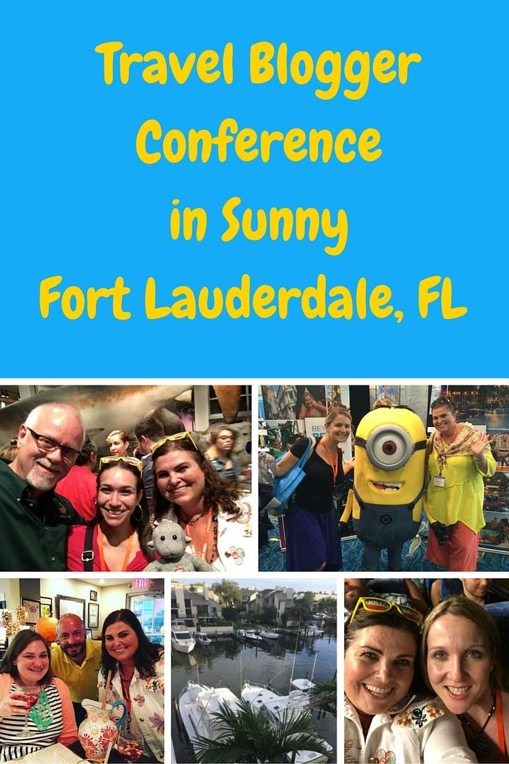 Being a travel blogger is not all fun and glamour. We actually work sometimes, and have conferences.  Here we are working away in Fort Lauderdale. ;)