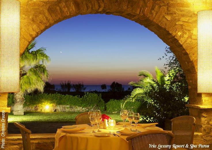 Fine Dining at Yria Luxury Resort & Spa Paros