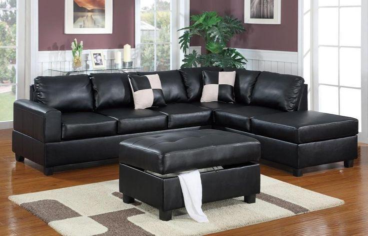 Langton Chaise Sofa In Black Chaise Sofas Perth 3