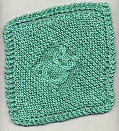 Diagonal Owl Dishcloth