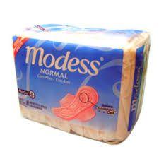 Modess - Absorvente antigo. era baratinho e você não precisa ficar se preocupando com marcas