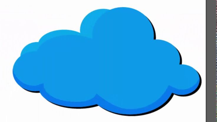cloud shape - Adobe Illustrator tutorial. How to create blue cloud for s...