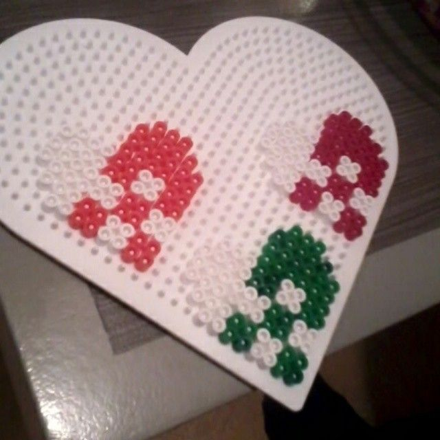 Christmas ornaments hama beads by nimtyel