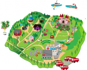 Seikkailukartta. Map of Peukkula #TravelFinland #Themepark #jyvaskyla