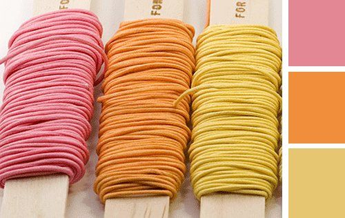 Wedding colors - pink yellow orange