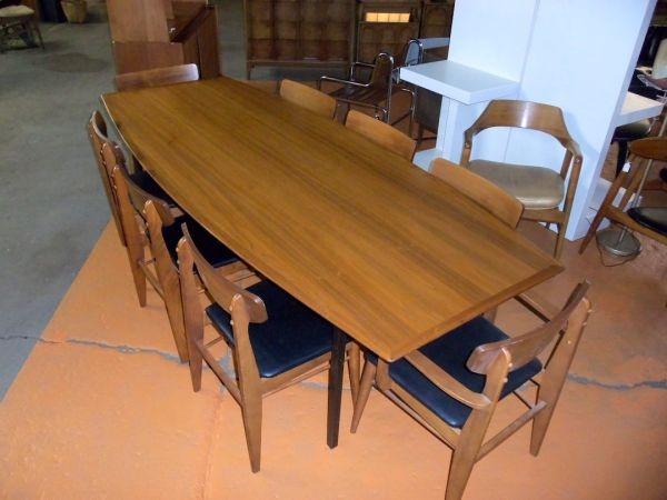 "8'-0"" BEAUTIFUL MID-CENTURY MODERN WALNUT DINING TABLE BY ..."