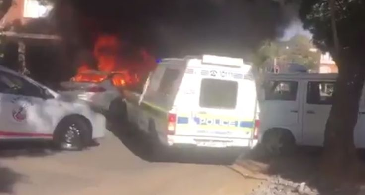 Watch: Insane footage of Uber vehicle reversing while on fire after attack in Pretoria  How did this even happen? https://www.thesouthafrican.com/watch-insane-footage-of-uber-vehicle-reversing-while-on-fire-after-attack-in-pretoria-video/