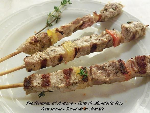 Arrosticini, Souvlaki di maiale | Ricetta carne di maiale, secondo piatto | Ricetta Cucina Greca